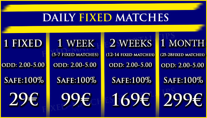 DAILY FIXED MATCHES FOOTBALL BETTING TIPS 1x2
