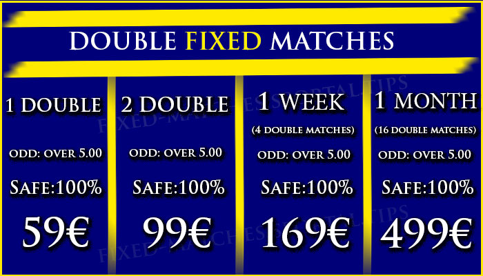 DOUBLE FIXED MATCHES OFFER 05 to 06 September